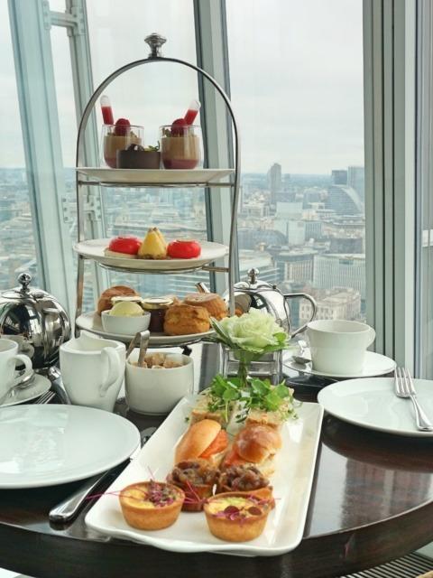 Aqua Shard for a London-view afternoon tea