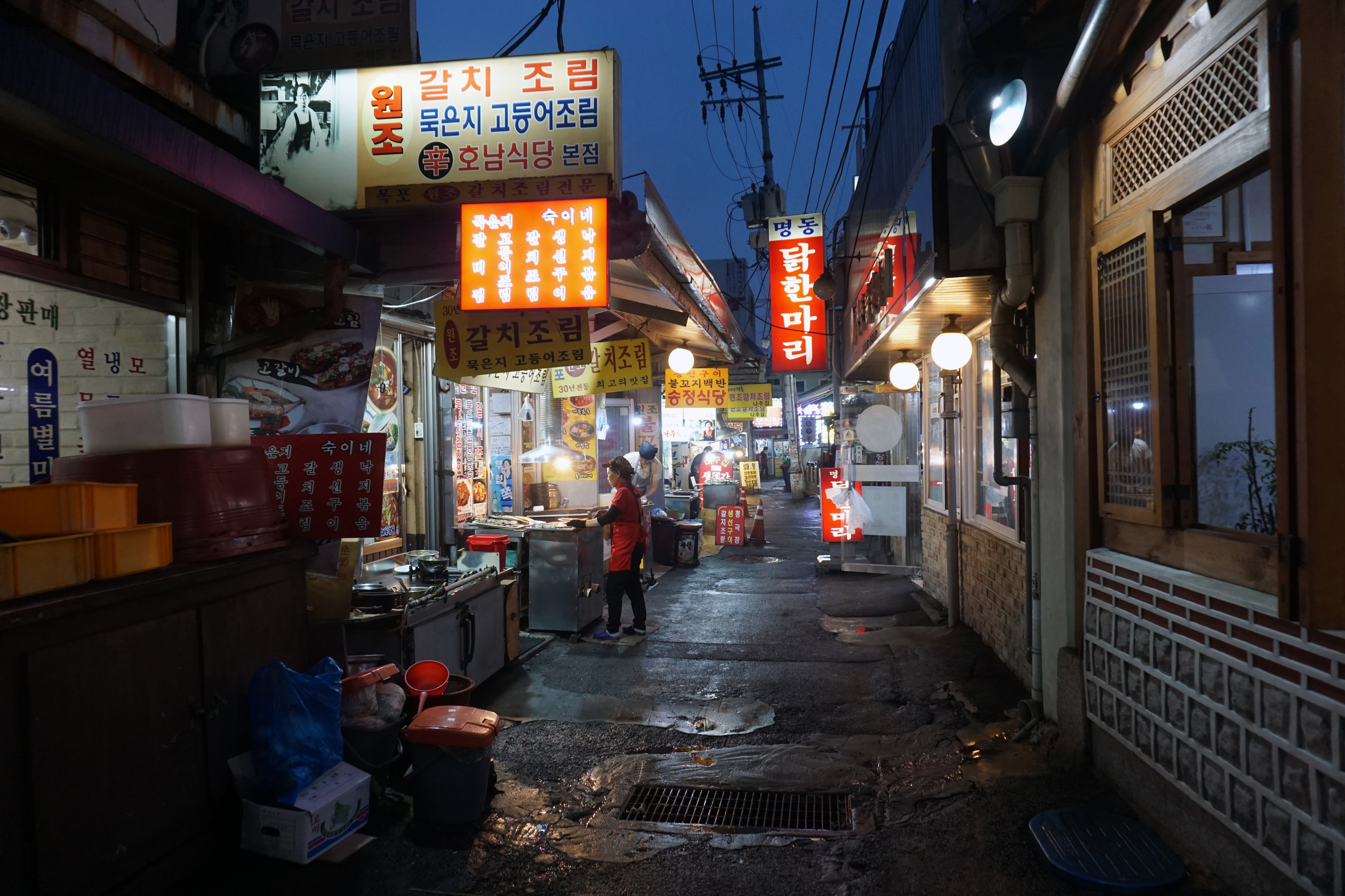 Grilled fish street
