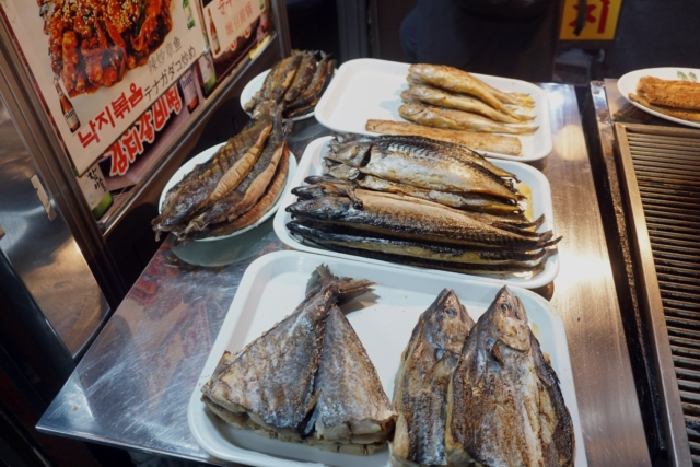 Fish waiting to be grilled